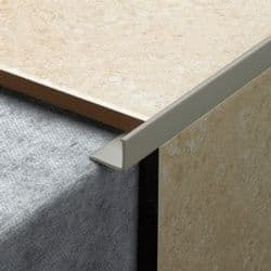 Tile Rite L Shape Grey Tile Trim - 2.44m x 12mm